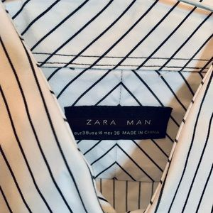 Zara striped Dress Shirt Small